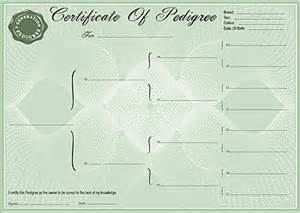 pedigree certificate template pedigree certificate forms 3 generation forms and