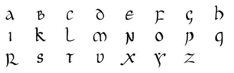 lettere arabe stilizzate unciaal