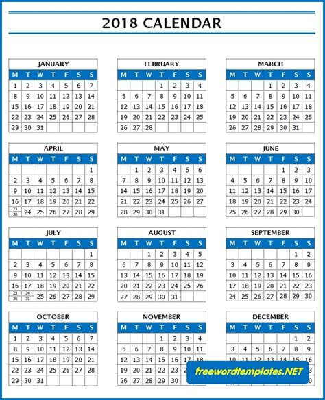 microsoft word calendar template 2018 2018 calendars