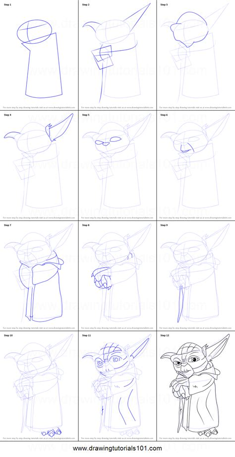 tutorial w the gallery for gt yoda drawing tutorial