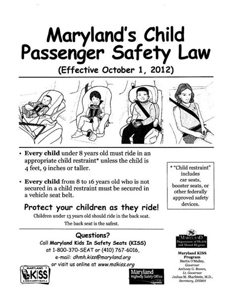 child car seat restraint laws wa booster seat laws maryland brokeasshome