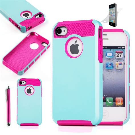 Casing Hp Iphone 4 Iphone 4 S Iphone 5 Iphone 5s Iphone 5c 7 hybrid rubber rugged combo matte silicone phone cover