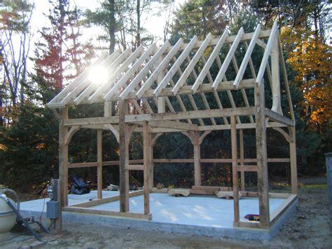 timberframe shed timber frame shed barre mass pool