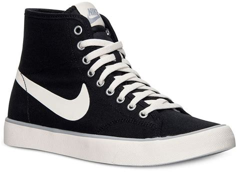 black canvas high top sneakers nike primo court mid