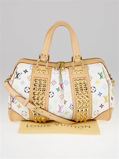 louis vuitton white monogram multicolore courtney mm bag