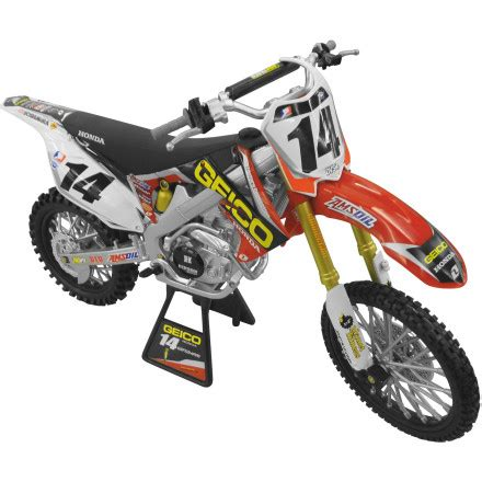 toy motocross bikes new ray toys 1 6 2012 kevin windham honda crf450 geico