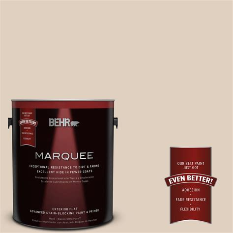 behr marquee 1 gal n240 2 adobe sand flat exterior paint 445001 the home depot