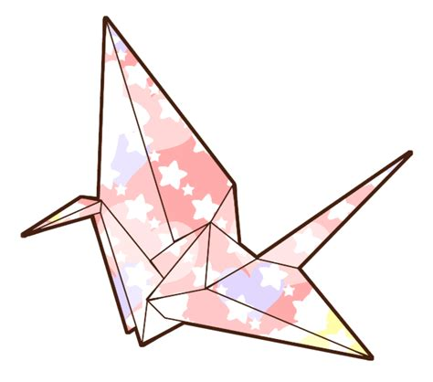 Japanese Crane Origami - drawing of a paper crane clipart best