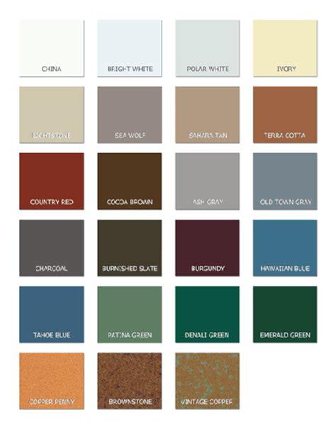 building color schemes steel building colors steel building trim