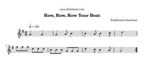 row your boat same tune as row row row your boat trad american free flute