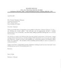 basic resignation letter template examples of simple