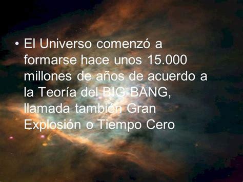 imagenes del universo hace millones de años el universo comenz 243 a formarse hace unos 15 000 millones
