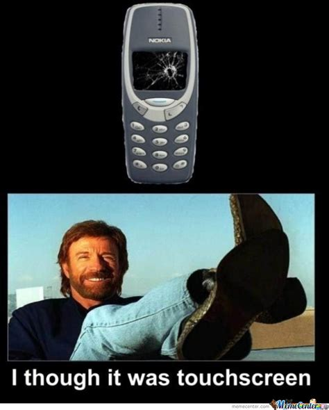 Funny Nokia Memes - chuck norris vs 3310 by lordomer meme center