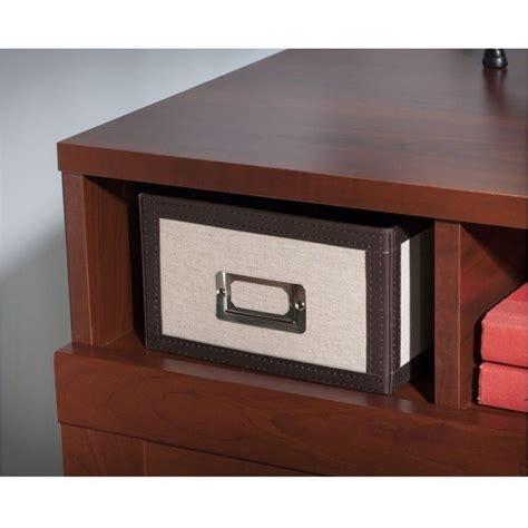 Reversible Corner Desk Pemberly Row Reversible Corner Desk In Hansen Cherry Pr 494825