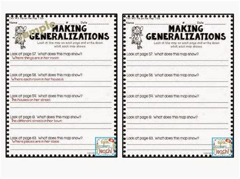 generalization worksheets worksheets ratchasima