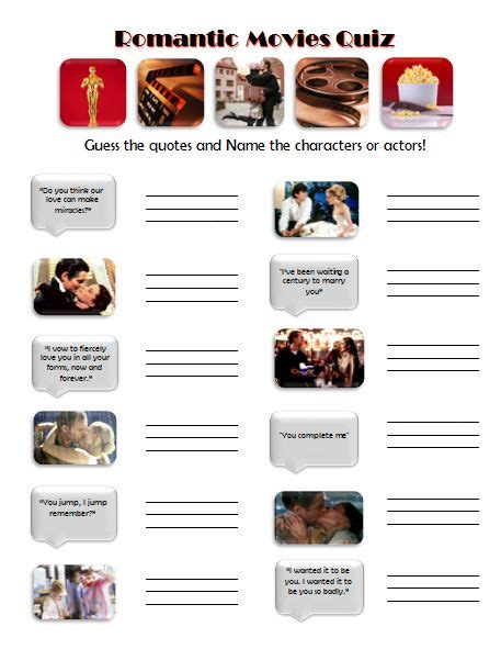 movie themes quiz 17 best images about wedding shower romantic movie theme