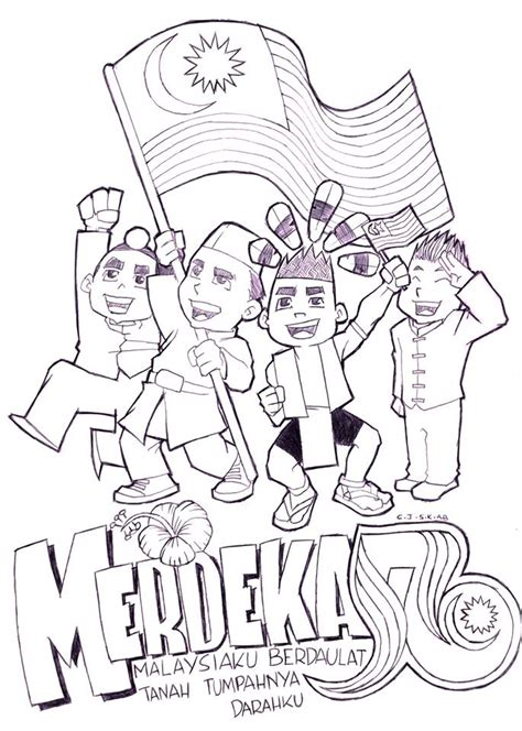 gambar contoh poster hari kemerdekaan panitia psv dsv sk parit kasan kertas merwarna