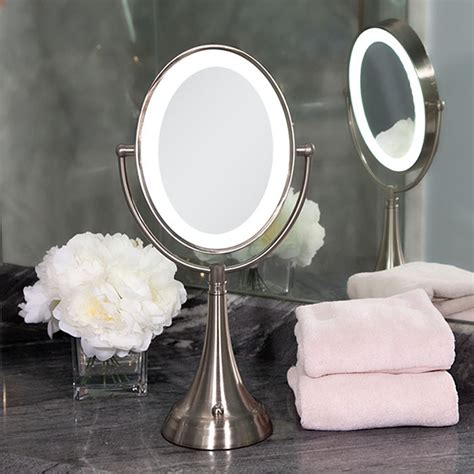 Zadro Led Vanity Mirror Zadro Dual Sided Led Lighted Oval Magnifying Vanity Mirror