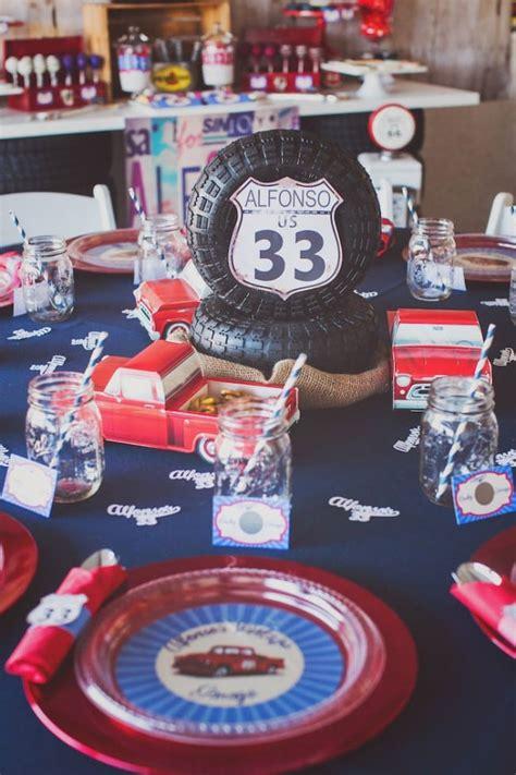 vintage truck birthday party spaceships  laser beams