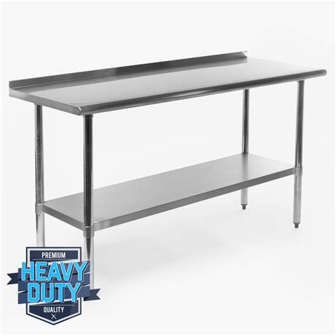 Stainless Steel Kitchen Prep Table Stainless Steel Kitchen Restaurant Work Prep Table With Backsplash 24 Quot X 60 Quot Ebay