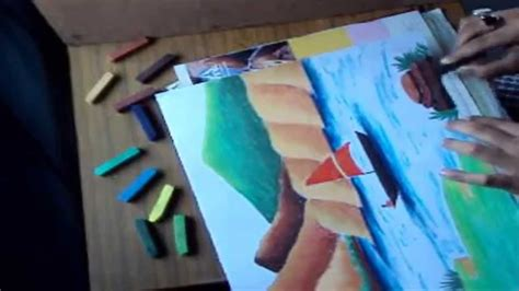 how to draw a boat in a river how to draw a mountain landscape with river and boat using