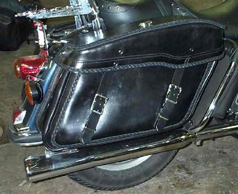 Handmade Leather Motorcycle Saddlebags - lutz s leather saddle bags custom motorcycle saddlebag