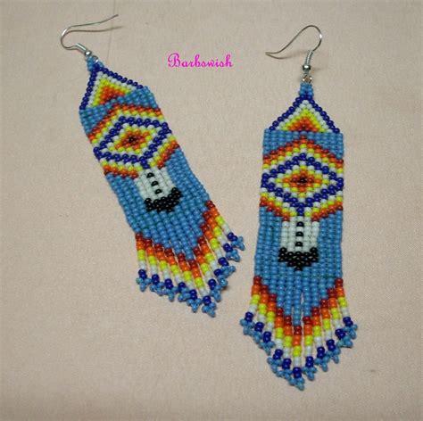 beading earrings american style seed bead earrings woven