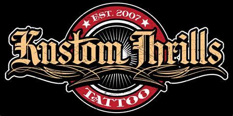 tattoo shop logo nine1873 kustom thrills tattoo shop logo