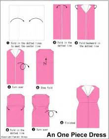 Origami Dress Pattern - a easy origami dress origami for
