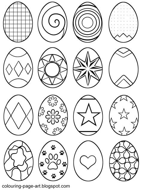 abstract easter coloring pages symbol abstract easter eggs multiple designs per sheet