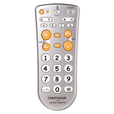 Chunghop Universal Learning Ir Remote L108e Gray Silver Graaha Ele Chunghop Universal Learning Ir Remote L108e Gray