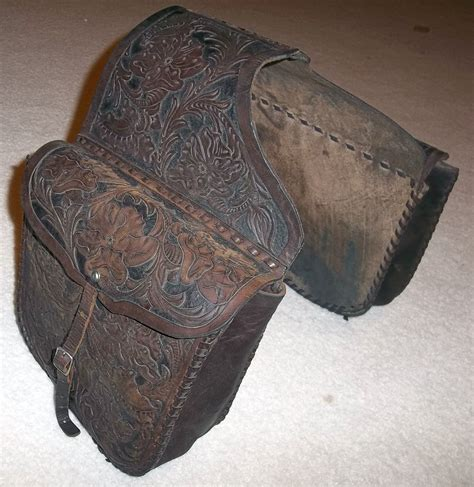 Handmade Saddlebags - tooled leather saddlebags custom chopper vintage soft