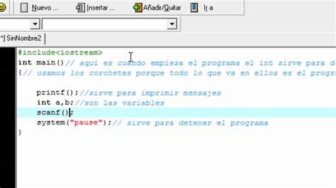 c tutorial for dev c como usar el dev c tutorial youtube