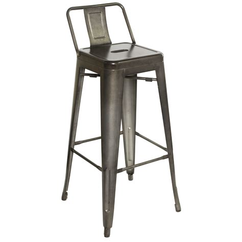 vintage metal stools with back industrial bar stool kendall counter stool new vintage