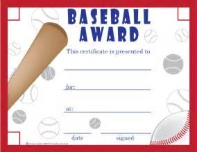baseball award template baseball award certificate template