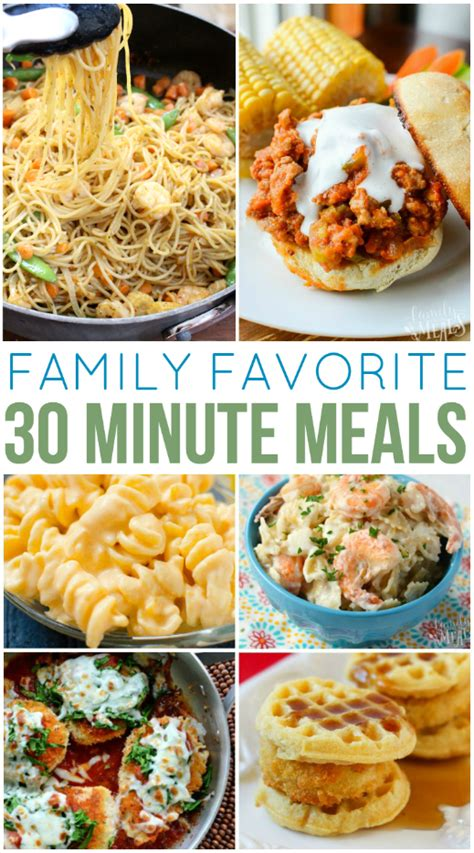 30 Minute Meals 30 minute meals for