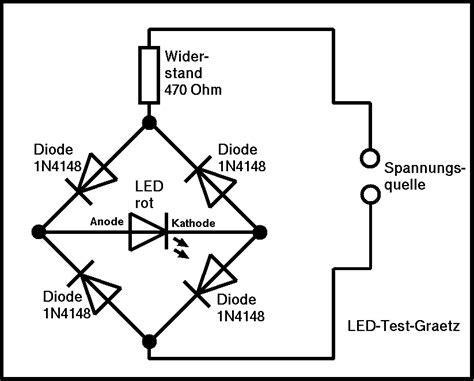 led diode spannung elektronik f 252 r anf 228 nger