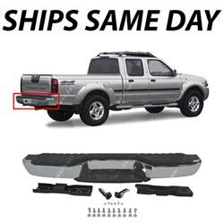 Nissan Frontier Rear Bumper New Chrome Complete Steel Rear Bumper Assembly For 1998