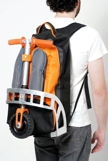 backpack kickscooter  coolest eco friendly travel