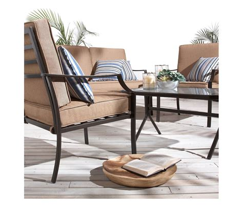 deck furniture sets amazon com strathwood brentwood 4 piece all weather