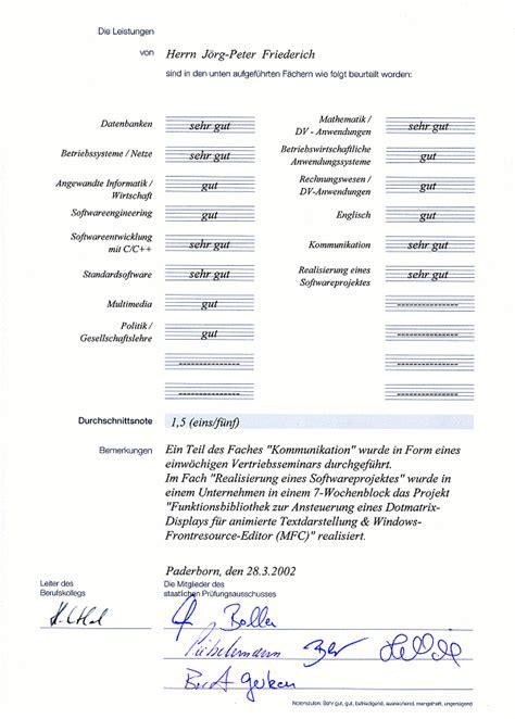 Lebenslauf Abitur Allgemeine Hochschulreife Abschlu 223 Staatl Gepr Informatiker Wirtschaft J P Friederich