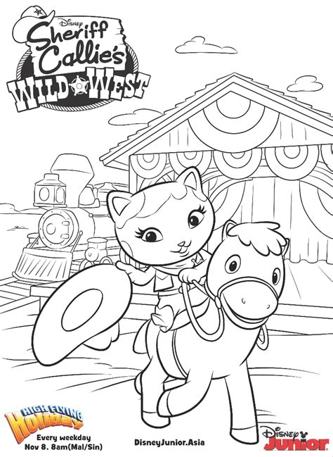 sheriff callie colouring page disney junior singapore
