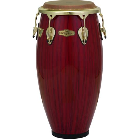 Hv Set Tiger Diskon pearl 11 75 quot series fiberglass conga in tiger stripe with gold hardware pcf117hv651