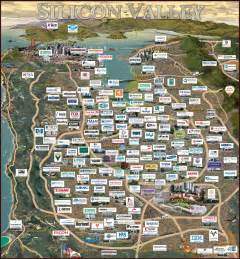 silicon valley california map silicon valley unicorns on a map start up