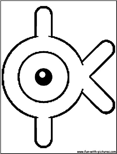 unown pokemon coloring pages unown k coloring page