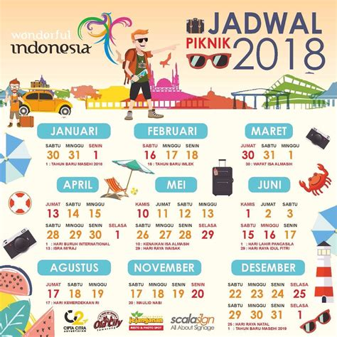 Kalender 2018 Plus Libur Nasional Kalender Liburan 2018 Asambackpacker01 S