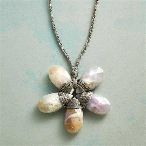 The Perfection Handmade Jewelry - agate flower necklace robert redford s sundance