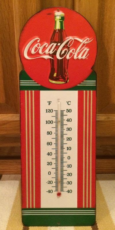 1968 coca cola ad wall art home decor soda pop coke chevrolet thermometer shop collectibles online daily