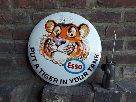 Werkstatt Usa by Esso Tankstellen Tiger Werkstatt Emailleschild