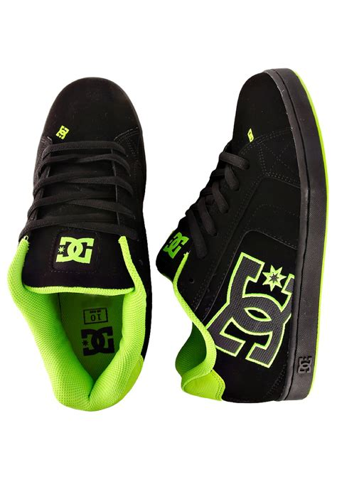 dc net black soft lime shoes impericon worldwide